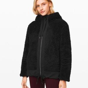 Lululemon Sherpa Reversible Black Zipper Jacket XL